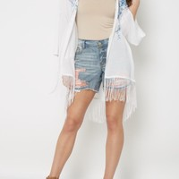Wildflower Fringed Wrap By Clover + Scout   Cardigans & Kimonos   rue21