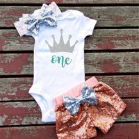 1ST BIRTHDAY BABY GIRL OUTFIT, 1ST BIRTHDAY OUTFIT