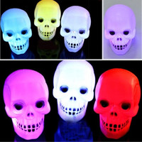 Hot sale Holiday Flash Skull Grimace LED Lantern Night Light Lamp Halloween Decoration Gift