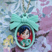 Wreck it Ralph necklace Vanellope pendant disney girls cute jewelry accessories summer winter vacation fun Christmas gift new years