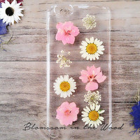 Soft Pink Delight Real Flower iPhone 6 Case, iPhone 6s Plus Case Clear, Pressed Flower iPhone 6s Case, Clear iPhone 6s Case, iPhone 5s