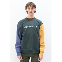 TriColor Sweat in Dark Teal