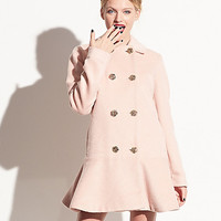 BetseyJohnson.com - PRETTY BETSEY FAUX MOHAIR JACKET ROSE
