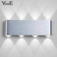 Indoor Fashion LED Wall Lamp 8W AC100V 220V Decorate sconce bedroom Light Free shipping
