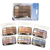 Bulk L.A. Colors Expressions 12-Color Eyeshadow Palette at DollarTree.com