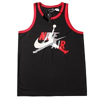 NIKE Jordan New fashion letter hook print vest top t-shirt Black