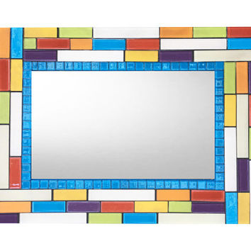 Colorful Wall Mirror, Mosaic Mirror,