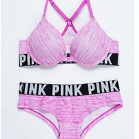 Victoria's Secret PINK Sexy Fashion Women's Bra Set