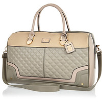 River Island Womens Grey quilted weekend bag
