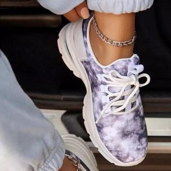 Women's Lace-up Flying Knit Sneakers