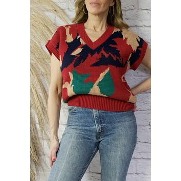Vintage Abstract Sweater Knit