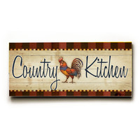 Country Kitchen Wood Sign