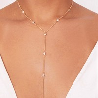 Tagan Gold Chain Drop Choker