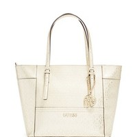 Delaney G-Shine Small Classic Tote at Guess