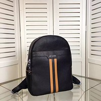 PRADA MEN'S NEW FASHION LEATHER BACKPACK BAG