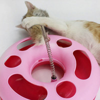 New Creative  Cat Toy Spring Mice Crazy Amusement Multifuncional Disk