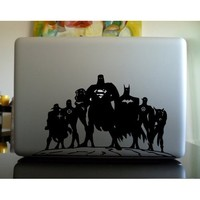 Apple Macbook Vinyl Decal Sticker - Superheroes Unite