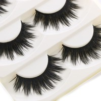 5 Pairs Of Women Makeup Thick False Eyelashes Nautral Eye Lashes Cross Long Black Handmade Eyelash Extension Makeup Beauty Tools