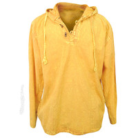Stonewash Wooden Toggle Hoodie on Sale for $29.95 at HippieShop.com