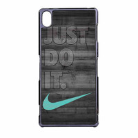 Nike Mint Just Do It Wooden Gray Sony Xperia Z3 Case