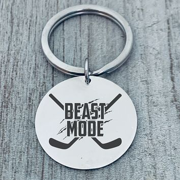 Hockey Keychain - Beast Mode