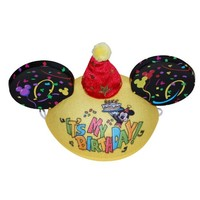 Disney Parks Exclusive Mickey Mouse Happy Birthday Ears Hat
