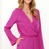 Here and Now Magenta Romper