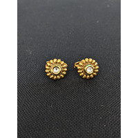 Spike round Kundan stone gold imitation Toe Rings