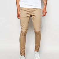 ASOS Extreme Super Skinny Chinos In Stone