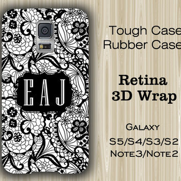 Lace Floral Pattern Monogram Samsung Galaxy S5/S4/S3/Note 3/Note 2 Case