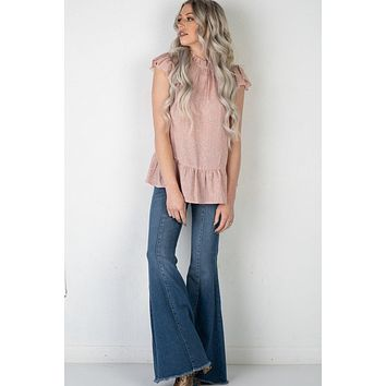 Judy Blue Chelsea Mid Seam Flare Jeans