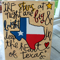 Deep in the Heart of Texas // Texas pride painting // 11x14 inch canvas // READY TO SHIP