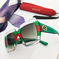 GUCCI tide brand gradient box color film polarized sunglasses