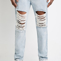 Destroyed Slim-Leg Jeans