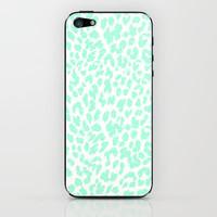 Mint Leopard iPhone & iPod Skin by MN Art | Society6