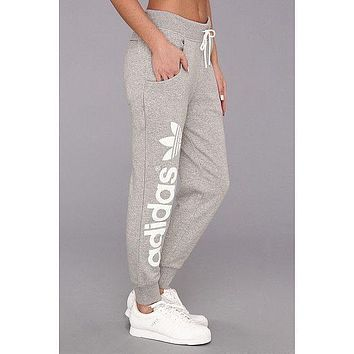 """Adidas"" Fashion Gold Letters Print Sport Stretch Pants Trousers Sweatpants"