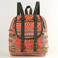 Mini Backpack Traditional Tribal Cross stitch Embroidered Kids Backpack, Student Backpack, School Bag