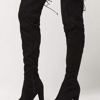WILD DIVA Over The Knee Heeled Womens Boots   Boots + Booties