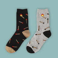 Matches Burn Set [2 Socks]