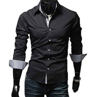 The McCoy Tailored Fit Shirt Black