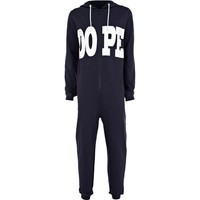 Navy blue dope print all-in-one