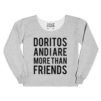 Doritos and I are More than Friends-Female Heather Grey T-Shirt