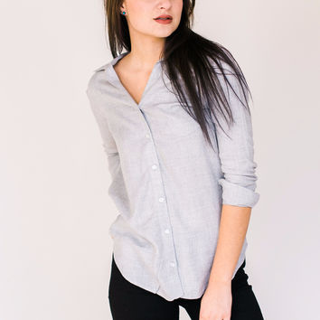 Grey Button-up