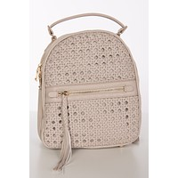 Cruisin' By Woven Front Mini Backpack (Nude)