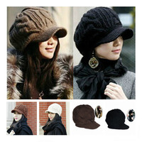 New Arrival Peaked Cap Women Hat Winter Caps Knitted Hats For Woman Lady's Headwear Cloth Accessory