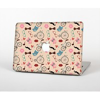 """The Tan Colorful Hipster Icons Skin Set for the Apple MacBook Pro 13""""   (A1278)"""