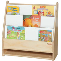 Wooden Toddler Bookcase Freestanding Book Display Natural Birch Finish