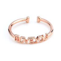 Gold Plated Brand Design I LOVE You Finger Ring High Quality