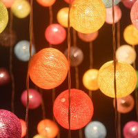 Funny Mixed Hanging Ball String Lights for Wedding and Party Decoration 20 Lights per Set