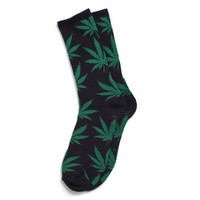 HUF - HUF PLANTLIFE SOCK HO12 // BLACK / GREEN